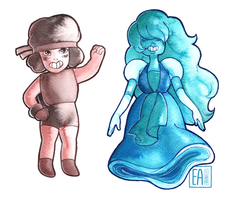 Ruby and Sapphire by EaChronicles