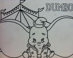 Dumbo outline for a painting by sampson1721