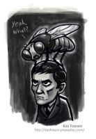 Barnabas Contemplates Strangling Collinsport Fly by KazFoxsen