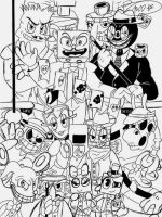 Cuphead Fanart-ALL BETS ARE OFF WIP Art(read desc) by CrystiliaLance