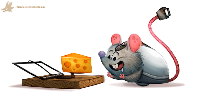 Daily Paint #1113. Computer Mouse by Cryptid-Creations