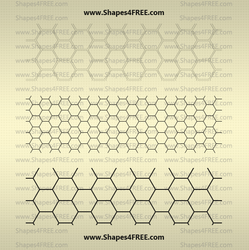 Transparent Hexagon Patterns by Shapes4FREE