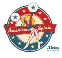 Cheerleader Retro Style by Coolgraphic