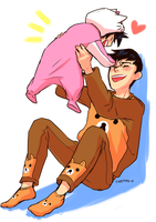 Hiro and Papashi by Cheppoly
