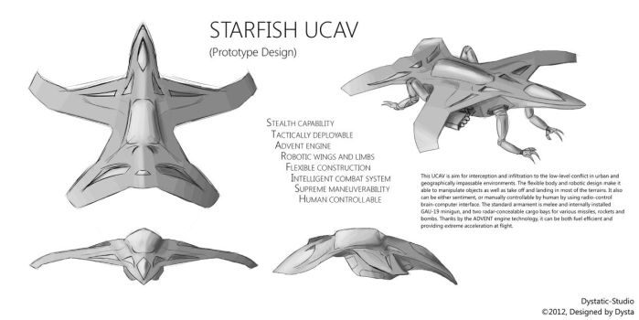 Concept - STARFISH UCAV by Dystatic-Studio