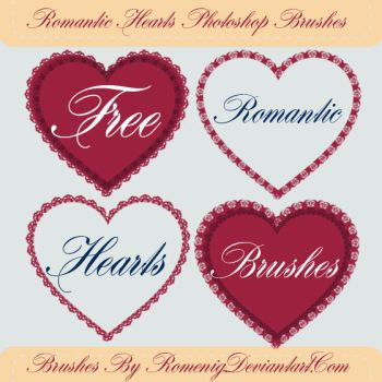 Romantic Hearts Free Brushes by Romenig