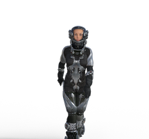 sci fi female space outfit - no background by DuneDrifter