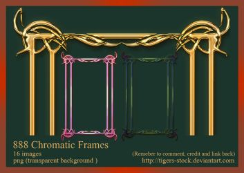 888 Chromatic Frames by Tigers-stock
