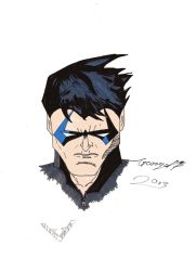 Nightwing portait by Peorgey