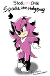 Spade the Hedgehog (Shadamy Son) by MsLunarUmbreon