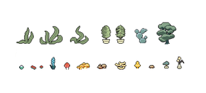 Pixel Plants (Dec 2013) by emimonserrate