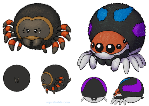 Squishable Spider Concepts by RacieB