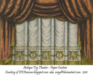Copper Toy Theater Curtain 1 by EveyD