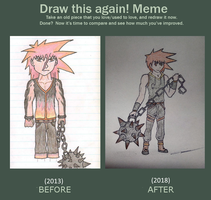 [Soul Eater] Draw This Again! Meme - Rubic Flare by Elphin-Zephyr