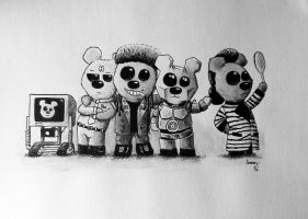 Red Dwarf Teddys by inmaxpictures
