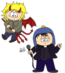 Imp Tweek and Youth Pastor Craig by Noizy-Bunny