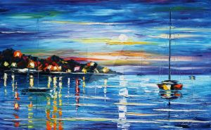 Love with the sea by Leonid Afremov by Leonidafremov