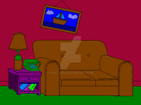 simpsons lounge room by kazza234