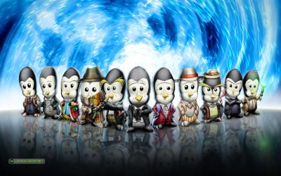 The Eleven Penguin Doctors by necrophilissimo