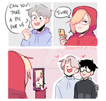 YOI: CAN YOU TAKE A PIC OF US? by Randomsplashes