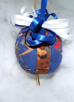 Precious Teddy Bear handmade quilted ornament 2 by Chrissie1370