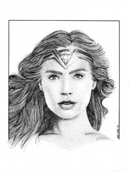 Diana in Stippling by knockmesilly