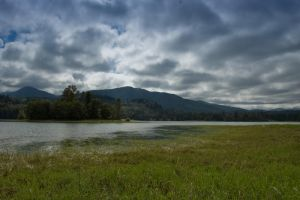 Lake, Mountains and Clouds 2 by happeningstock