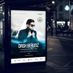 Special DJ Electro Dance Music Poster And Flyer 2 by dennybusyet