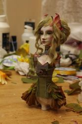 OOAK ART DOLL WIP by cliodnafae27