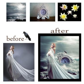 Before after Timeless by MennaKezia
