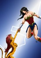 Wonder Woman and Cheetah - Not letting go by adamantis
