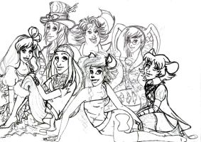 Mad T Party Band Girls WIP by UrbanStar