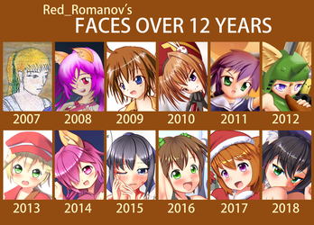 Faces over 2007-2018 by Red-Romanov