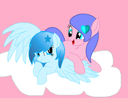 Let be best friend forever ! shooting star by partypie123