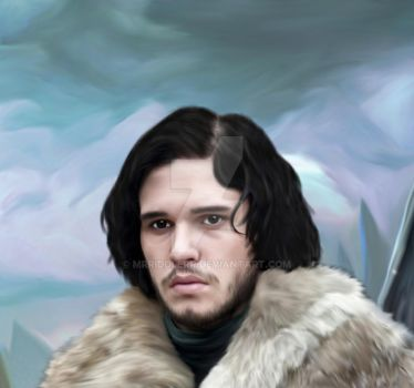 Game of thrones John Snow for the Contest by MrRiddlerr