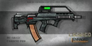 Fictional Firearm: HC-AR45c Assault Rifle by CzechBiohazard