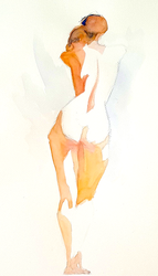 nude watercolour by Neivan-IV