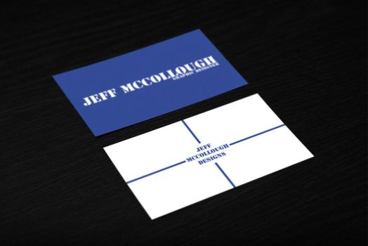 Blue Business Card by jeffmcc1