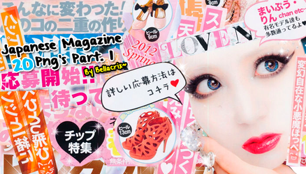 Japanese Magazine PNG's Vol. 1 by Bellacrix