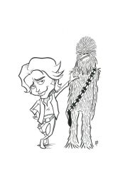Han Solo and Chewie by MrTristan