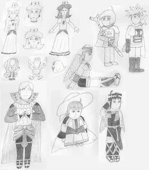 My 11 All Time Favorites Drawn Without Reference By Peachy4ever