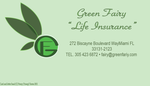 Green Fairy business cards by Ynnep
