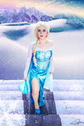 Elsa Icy Stairs by crula