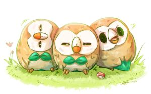 Mokuroh/Rowlet - The Buttler Pokemon