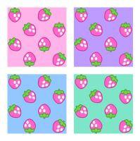 Strawberry Pattern - Stock by Mezzochan