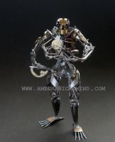 Operator (recycled watch parts sculpture, front) by AMechanicalMind