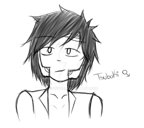 A Quick Drawing 4 (Tsubaki Male Ver) by spoinge