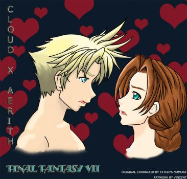 Cloud X Aerith by daigoro1990