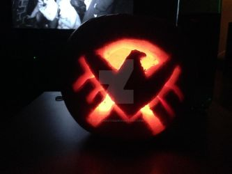 Agents of Shield Pumpkin 2k15 by musickrazy123