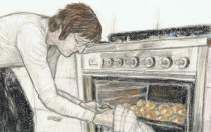 John Lennon baking bread by gagambo